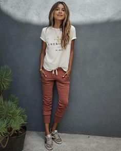 "Shop Sincerely Jules on Instagram: ""Off duty vibes in our American tee x Lux Joggers! 