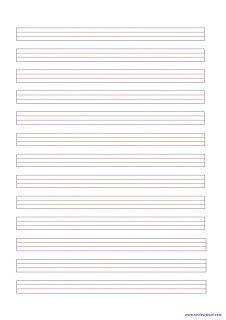 Kılavuz Çizgili Kağıt Şablonu | Sınıf Evrakları.Net