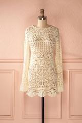 Padmini - Cream macrame dress