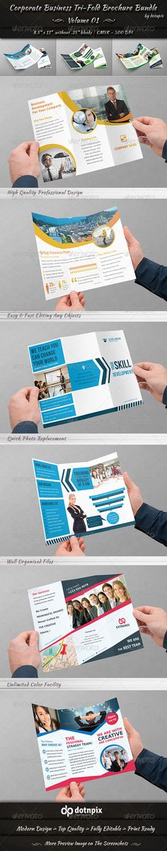 Corporate Business Tri-Fold Brochure Bundle is a designed for Any types of companies. It is made by simple shapes Although looks Corporate Style, Corporate Business, Corporate Brochure, Business Brochure, Corporate Identity, Tri Fold Brochure Size, Safety Pictures, Indesign Brochure Templates, Facebook Timeline Covers