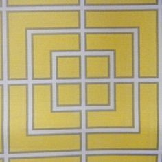 Fretscape Canary Contemporary Indoor/Outdoor Fabric by DwellStudio for Robert Allen  $14.75/yd.  polyester (buyfabrics.com)
