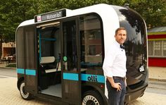 Olli is an IBM Watson-powered driverless electric bus. You might see a cute, driverless bus roaming the streets of Washington DC starting today. It's called Olli, and it's an autonomous electric minibus designed by Local Motors, which you might remember as the company that's planning to sell 3D-printed cars this year.