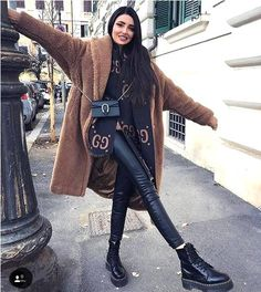 20 Edgy Fashion Outfits to look Forever Young – Fashion Trend 2019 – Fashion Trends Ideas Winter Outfits For Teen Girls, Casual Winter Outfits, Stylish Outfits, Fall Outfits, Stylish Clothes, Paris Outfits, Winter Fashion Outfits, Autumn Fashion, Young Fashion