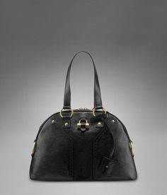 Medium YSL Easy in Soft Black Leather with Patent Leather Y http ...