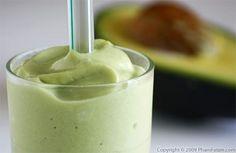 Sinh tố bơ - Vietnamese-style avocado milk shake!  Yum!