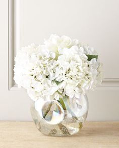 Whiter Shade of Pale Faux-Floral Arrangement by John-Richard Collection at Horchow.