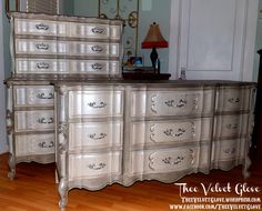 painted dressers for sale | Eleanor ~ Curvacious Custom Order Dresser and Chest of Drawers | Thee ...