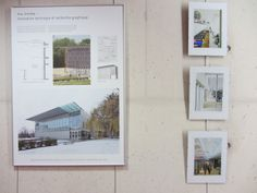 Exposition conçue par le cabinet d'architectes Badia Berger qui retrace la conception de la BU des sciences de Versailles (UVSQ) : panneaux et photos, sans oublier la maquette du projet. Décembre 2013.