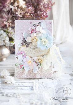 Bee Shabby: Две цветущие открытки из коллекции Tea Time