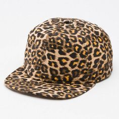 Vans Off The Wall Idylwild Leopard Print Mens Multi Snapback camper Hat New | eBay