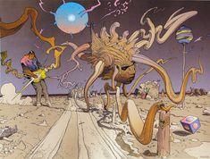 """brianmichaelbendis: """" Jimi Hendrix art of Jean Giraud, aka Moebius. I feel like Hendrix would have supremely appreciated these. Jean Giraud, Jimi Hendrix, Comic Book Artists, Comic Artist, Illustrations, Illustration Art, Moebius Comics, O Cowboy, Art Beauté"""