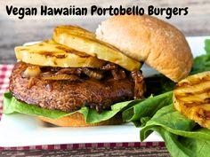 Vegan Hawaiian Portobello Burgers | http://zachspuckler.com/vegan-hawaiian-portobello-burgers/