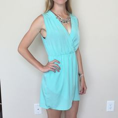 Blue Chiffon Boutique Dress Worn twice. No sign of wear. Bought this dress at a Southern Boutique and never wore it enough. Size small but has an elastic waist line that could allow it to fit an extra small or even a medium. Honey Punch Dresses Midi