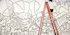 Artist Shantell Martin's quirky, creepy, wild adult coloring book unfolds into a nine-foot work of art.
