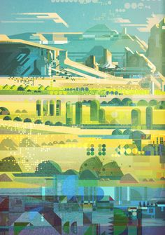 Illustration / James Gilleard | AA13 – blog – Inspiration – Design – Architecture – Photographie – Art