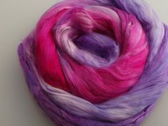 Mulberry Silk Roving Top Hand Dyed 20 grams for spinning, felting fibre, needle felting, 2087 Purple Pink Nuno Felting, Needle Felting, Mulberry Silk, Spinning, Purple, Pink, Vibrant Colors, Fiber, The Incredibles