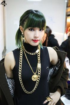Jiyoon 4 Minute - She's perfect - Fashion Kpop Sehun, Exo, Mint Hair, Green Hair, 2ne1, South Korean Girls, Korean Girl Groups, Shinee, Mamamoo