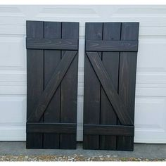 1 set of black stained Z shutters going to Texas!