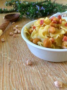 Pasta+ceci+e+pancetta,+ricetta+semplice+e+saporita Pancetta, Macaroni And Cheese, Ethnic Recipes, Diet, Mac And Cheese