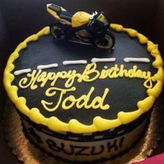 Suzuki sport bike birthday cake for my boyfriend. Rays in mckinleyville. He loves his motorcycle :)