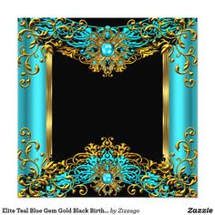 Shop Elite Teal Blue Gem Gold Black Birthday Party 2 Invitation created by Zizzago. Bow Wallpaper, Birthday Wallpaper, Black Wallpaper, Wallpaper Backgrounds, Old Paper Background, Creative Background, Mobile Wallpaper Android, Cellphone Wallpaper, 50th Anniversary Invitations