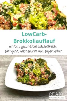 Low carb broccoli bake - Our simple LowCarb broccoli casserole is not only ideal for all LowCarb fans, but also for everyone - Healthy Dinner Recipes, Low Carb Recipes, Broccoli Bake, Menu Dieta, No Calorie Foods, Calories, Low Carb Keto, Grilling Recipes, Low Carb