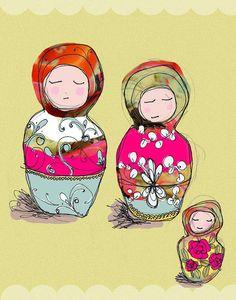 Babushka Dolls - Wall Art Print