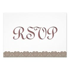 #Taupe #Lace #RSVP #Wedding #Response #Invitations http://www.zazzle.com/taupe_lace_rsvp_wedding_response_v010_invitations-161933177652020250