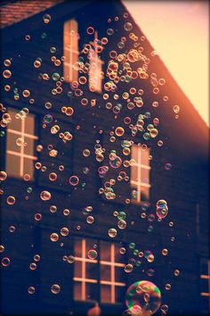 Bubbles at the sunset