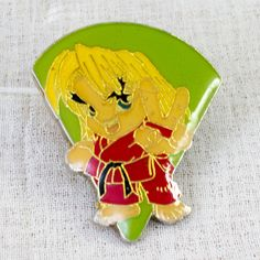 Street Fighter 2 Metal Pins Badge Ken Capcom Character JAPAN GAME