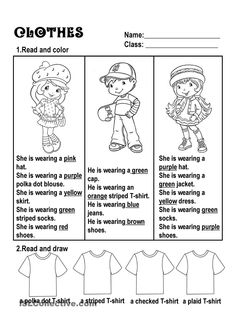 Clothes - English ESL Powerpoints for distance learning and physical classrooms English Primary School, Teaching English, English Worksheets For Kids, English Activities, English Lessons, Learn English, Clothes Worksheet, Present Continuous Tense, Simple Subject