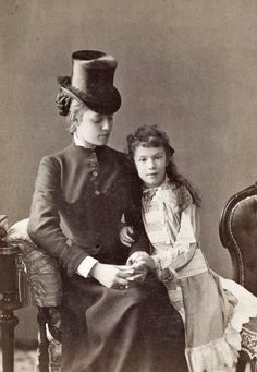 Empress Elisabeth's youngest daughter Marie Valerie with her cousin, Marie Louise von Wallersee-Larish.