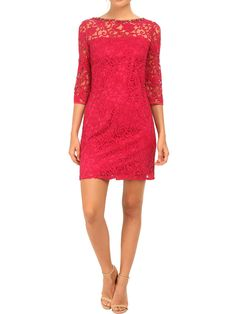 NEW ADRIANNA PAPELL PINK LACE FLOUNCE SLEEVE OCCASION PARTY DRESS 8 to 18