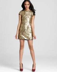 Nanette Lepore Dress - Society Sheath Sequin - Contemporary - Bloomingdale's