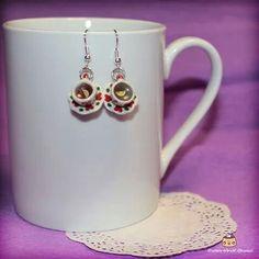 A cup of tea :) Cute earrings