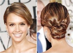 Jessica Alba updo -I think want a little more wow in the back but I want that l… - Modern Summer Hairstyles, Up Hairstyles, Pretty Hairstyles, Wedding Hairstyles, Wedding Updo, Hairdos, Cabelo Jessica Alba, Jessica Alba Hair, Modern Updo
