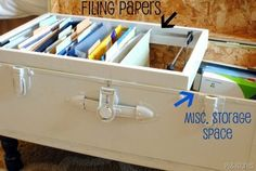Before & After: Old Trunk to Out of the Ordinary Filing Cabinet — PB&J Stories | Apartment Therapy