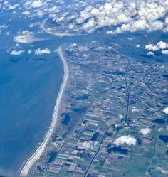 De kust en kop van Noord-Holland vanaf 10 km hoogte. Foto: Chris van Vleuten