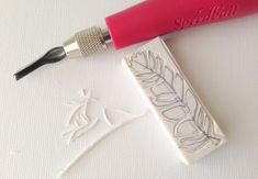 raemissigman - Blog - i wanted to carve a feather stamp