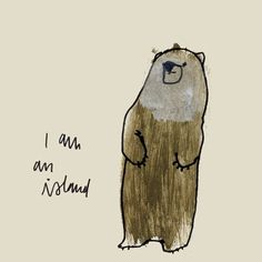 maybe a bear is an island.....   ...........click here to find out more     http://googydog.com