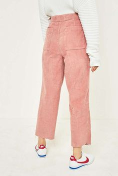 Slide View: 4: BDG Pink Corduroy Cocoon Trousers