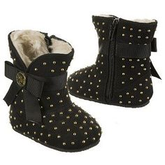 MICHAEL MICHAEL KORS Kids' Baby Grace Boot Crystal Black