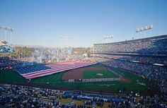 Fireworks are displayed during the national anthem before Game 3 of the National League championship series
