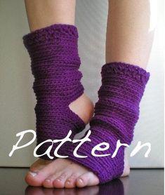 PATTERN Yoga Socks Dance Pilates Ballet Leg Warmers by swellamy. $5.00 USD, via Etsy.