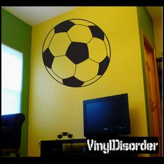 Soccer AL 013 Sports Vinyl Decal Car or Wall Sticker Mural