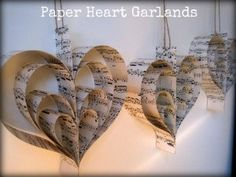 deb, paper heart garlands will go above where the music will be played.