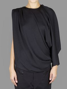 GIVENCHY DRAPED ASYMMETRIC TOP WITH ONE SLEEVE  Antonioli Online Boutique