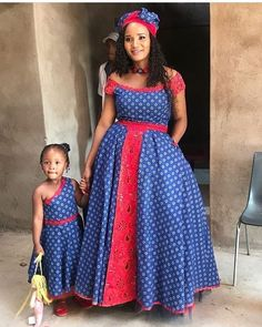 Renys Wedding traditional outfits for African Women - Reny styles Pedi Traditional Attire, Sepedi Traditional Dresses, South African Traditional Dresses, Traditional Wedding, African Dresses For Kids, African Maxi Dresses, African Attire, Xhosa Attire, Shweshwe Dresses