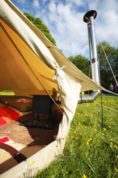Bell tent stove, hand made in the UK - because perhaps the sun doesn't always shine and I want to glamp all year round. x
