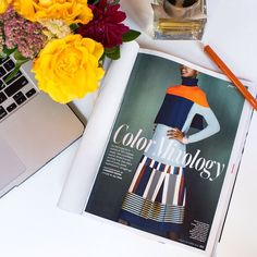 Our #SUNONY skirt in the October issue of In Style magazine.